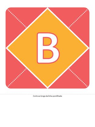 Banner de boas-vindas para menina (rosa, amarelo, verde)