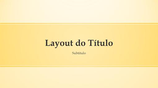 Apresentação com design em tiras amarelas (widescreen)