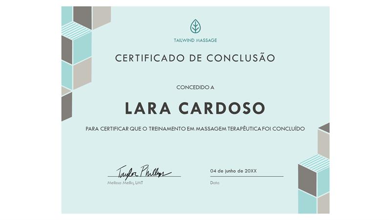 Certificado de conclusão (azul)