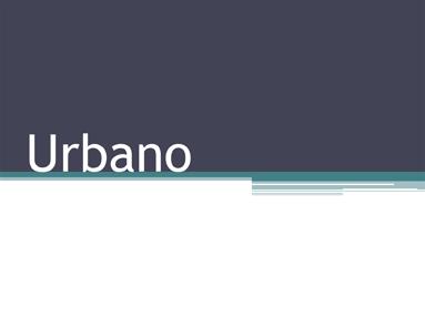 Urbano