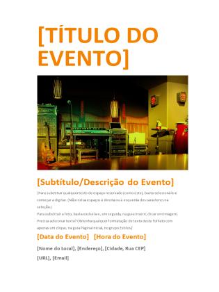 Panfleto de evento