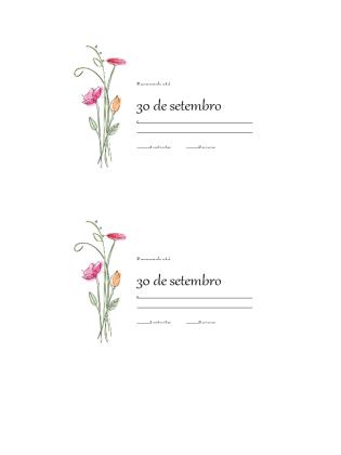 Cartões RSVP (Design de Aquarela)