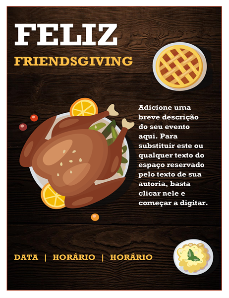 Panfleto de Friendsgiving