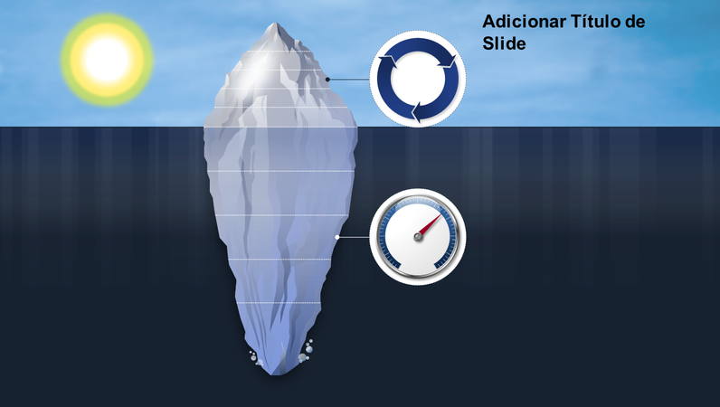 Elemento gráfico de iceberg