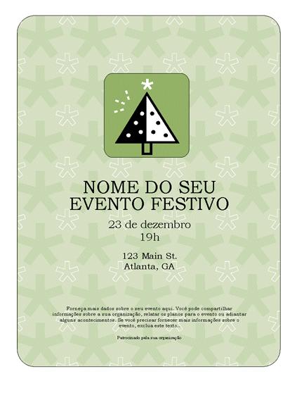 Panfleto de evento comemorativo (com árvore verde)