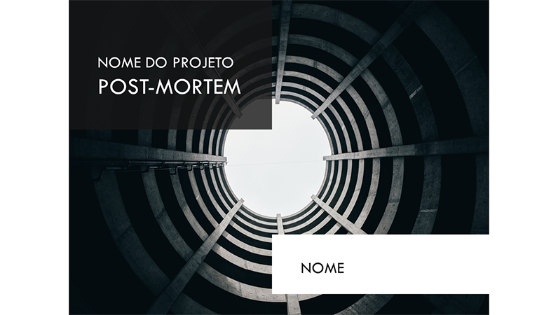 Apresentação para projeto post-mortem