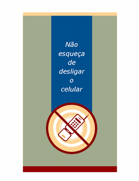 Panfleto de solicitação de celular