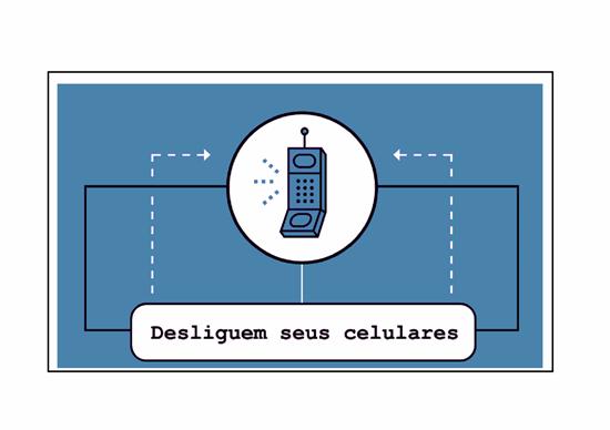 Panfleto de lembrete de celular