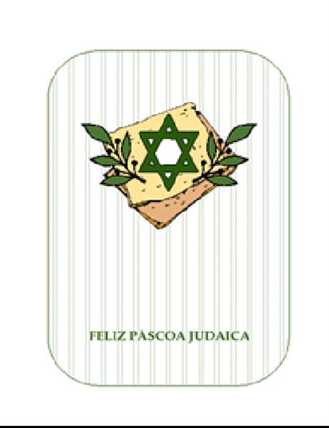 Cartão de Páscoa judaica (com a estrela de Davi)