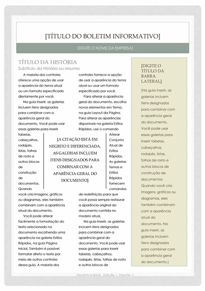 Boletim informativo (design Farmacêutico)