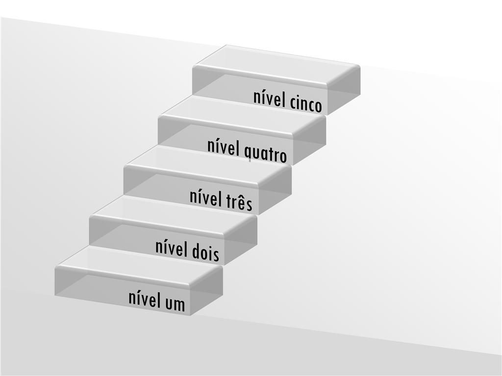 Escadas 3D transparentes com rótulos