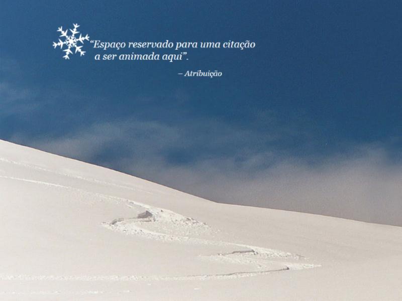Cenário animado com neve