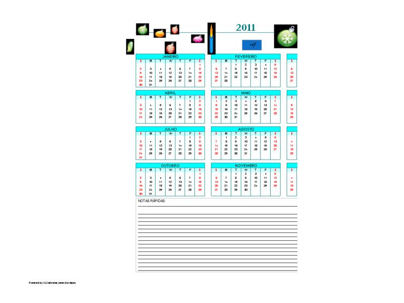 RDF 2011Calendario
