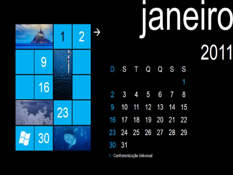 Calendário 2011 - 7 PhoneCal