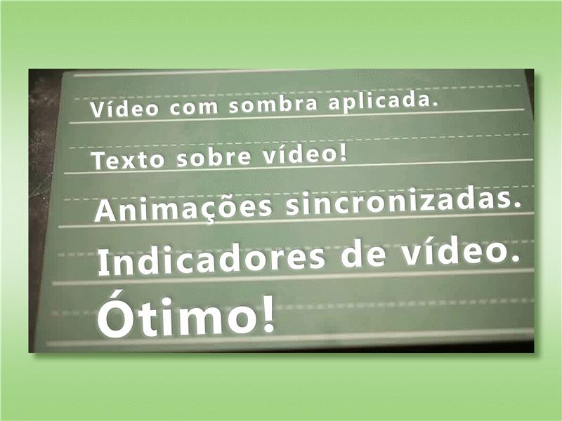 Texto sobre vídeo