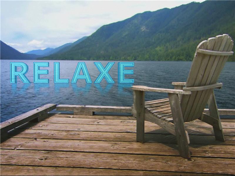 Relaxando no lago (com vídeo)