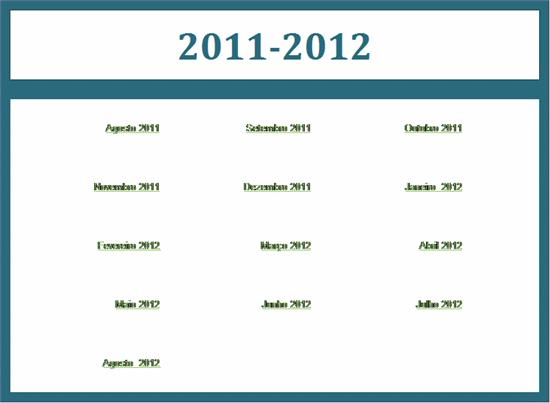 Calendário acadêmico de 2011-2012 (seg-dom)
