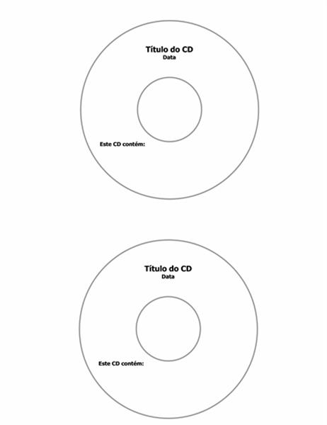 Rótulos para CD (compatível com Avery 5824)