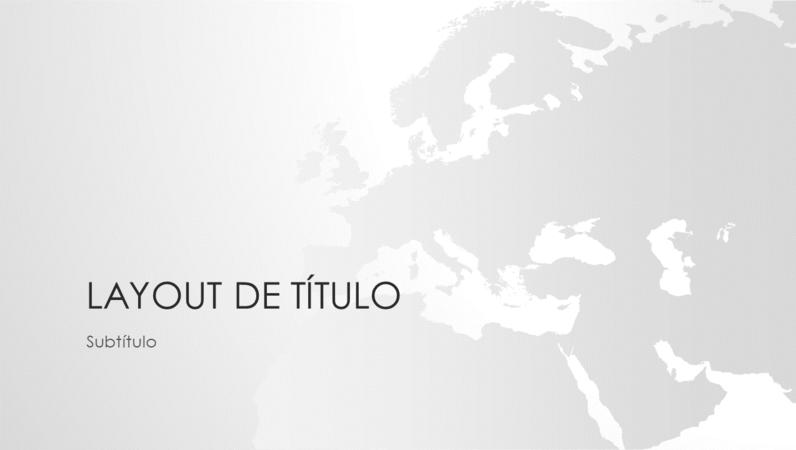 Série mapas-múndi: apresentação continente europeu (widescreen)