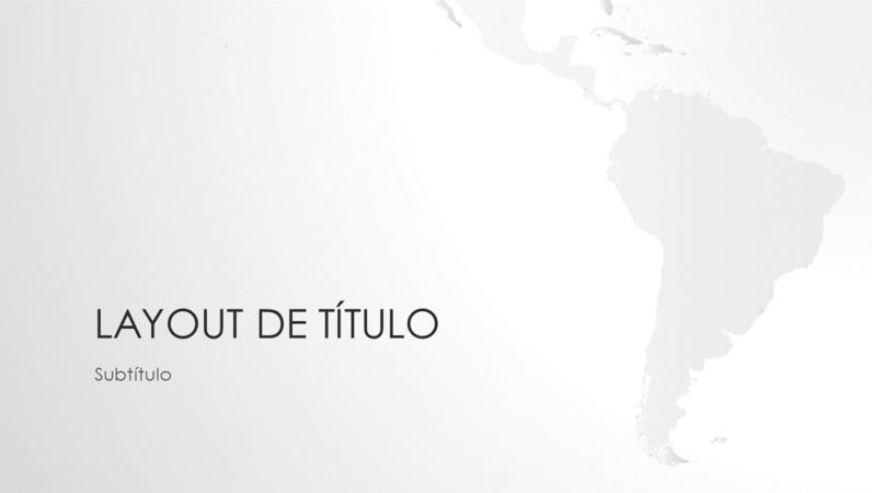 Série de mapas do mundo, apresentação da América do Sul (widescreen)