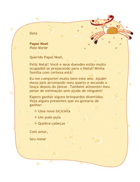 Carta para Papai Noel
