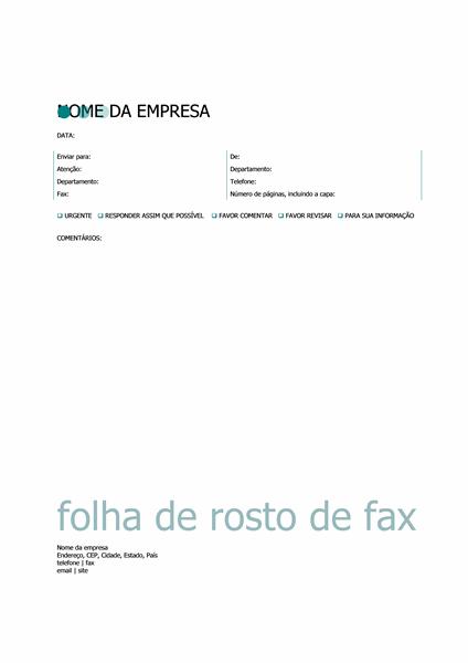 Folha de rosto para fax (tema Pontos)