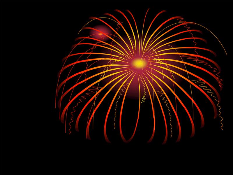 Modelo de design de fogos de artifício
