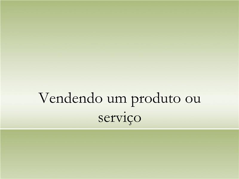 Apresentação sobre produto ou serviço
