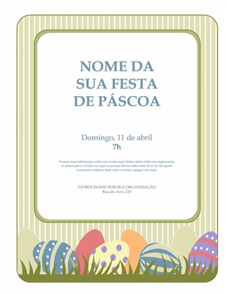 Panfleto de Páscoa (com ovos)