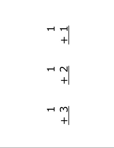 Cartões rápidos de adição (frente: equações, funciona com o Avery 5388)