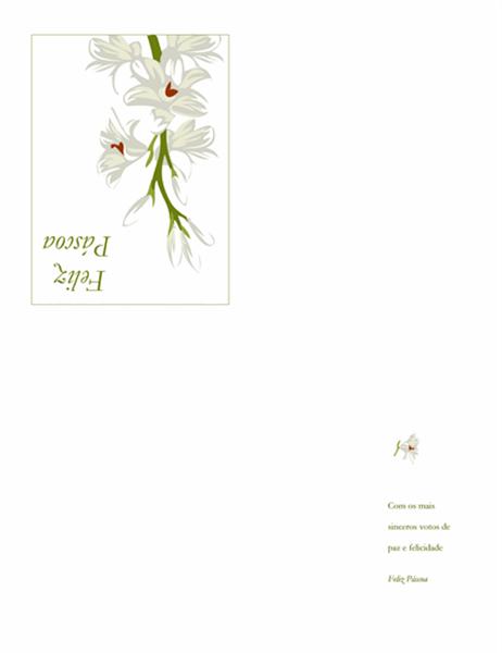 Cartão de Páscoa (com flores)