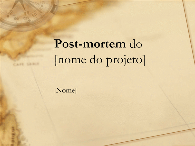 Apresentação para post-mortem do projeto