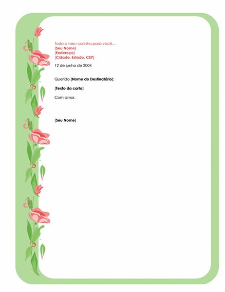 Papel de carta para Dia dos Namorados