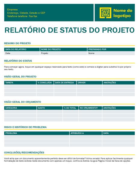 Relatório de progresso do projeto (design Atemporal)