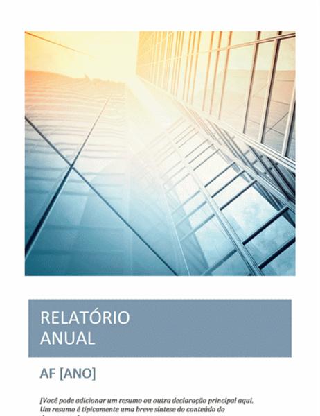 Relatório anual (com foto de capa)