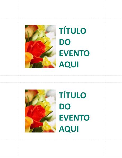 Cartões-postais de eventos de negócios (2 por página)