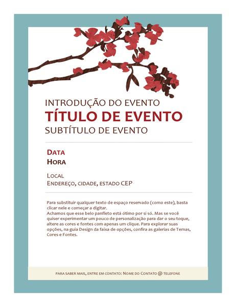 Panfleto de evento de primavera