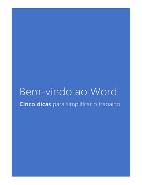 Bem-vindo ao Word 2013