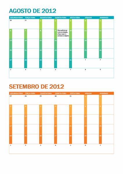 Calendário acadêmico (S-D)