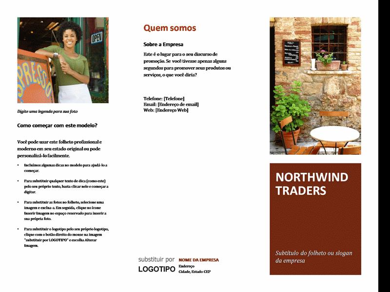 Folheto para pequenas empresas