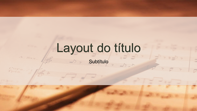 Slides com design de partitura