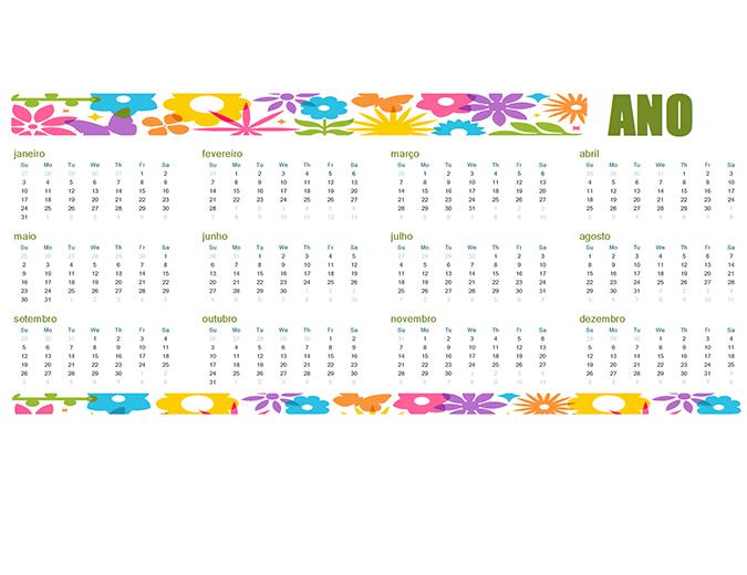 Calendário para qualquer ano