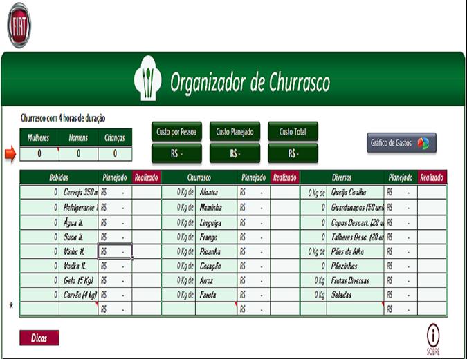 Calculadora de Churrasco