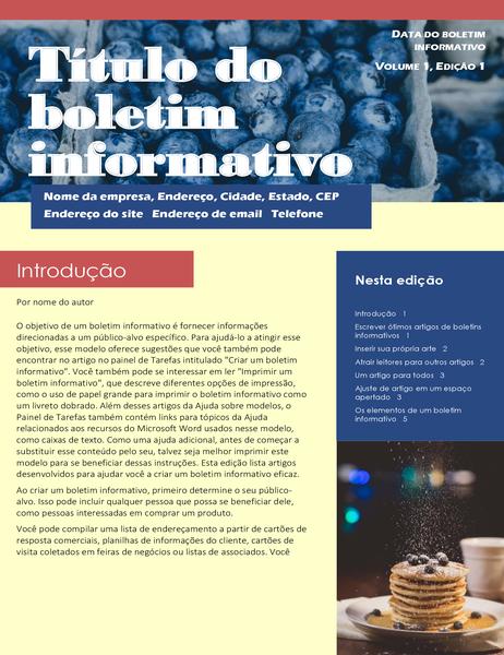Boletim informativo empresarial (2 col., 6 págs., correspondência)