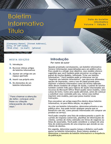 Boletim informativo de negócios (4 páginas)