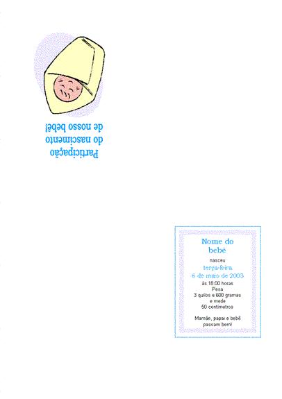 Participação do nascimento de um bebê