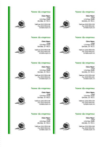 Cartões de visita gerais