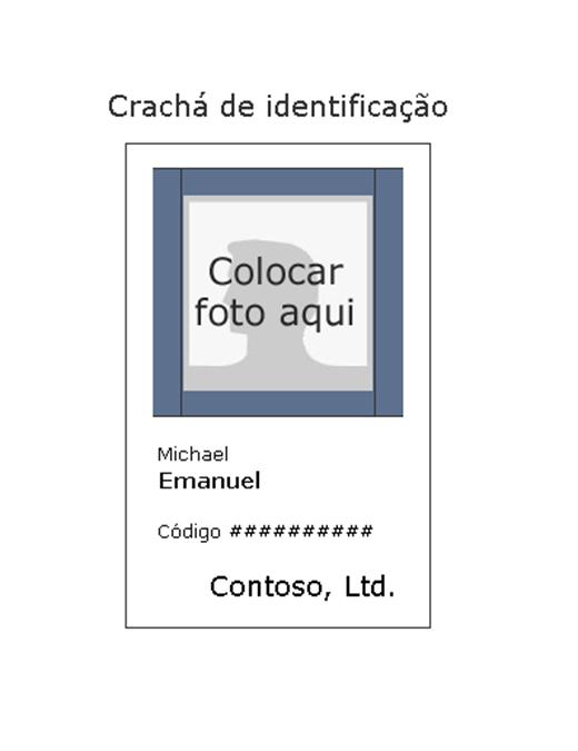 Crachá de identificação do funcionário (retrato)