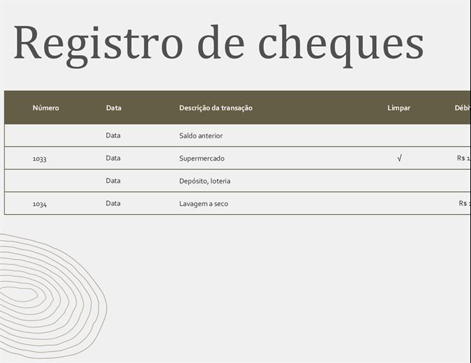 Registro de cheques