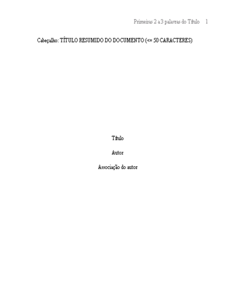 Formato de papel APA